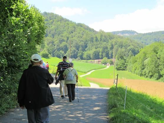 Die Wandergruppe unterwegs.