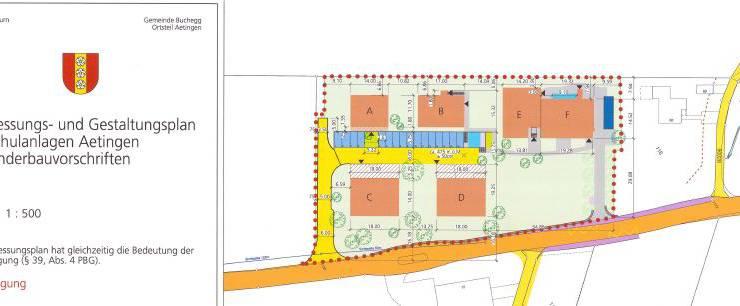 Gestaltungsplan Alte Schulanlagen Aetingen