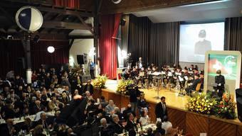 Albisgüetli-Tagung von 2011 mit der damaligen Bundepräsidentin Micheline Calmy-Rey (Archiv)