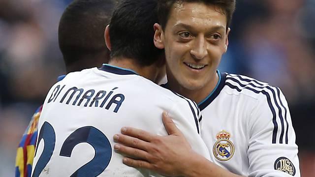 Jubelnde Real-Madrid-Profis.