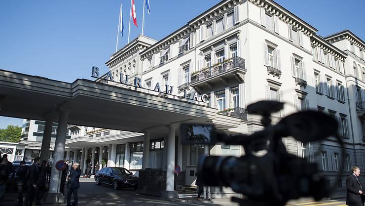 Im Zürcher Nobelhotel Baur au Lac wurden José Maria Marin und sechs weitere FIFA-Funktionäre Ende Mai festgenommen. (Archivbild)