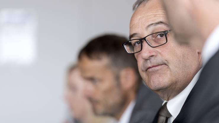 Wirtschaftsminister Guy Parmelin am Samstag bei der Vorstellung des Freihandelsabkommens zwischen den Efta-Staaten und den Mercosur-Ländern.
