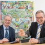 Erfolgreiche SWL-Führung: Martin Steinmann (l.) und Markus Blättler haben Strom für Lenzburg gut eingekauft. (Archivbild: 21. Mai 2019)