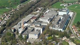 Das Areal der Papierfabrik Biberist