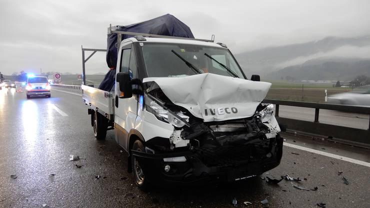 Zur Auffahrkollision kam es am Dienstagnachmittag auf der A1 bei Oberbipp.