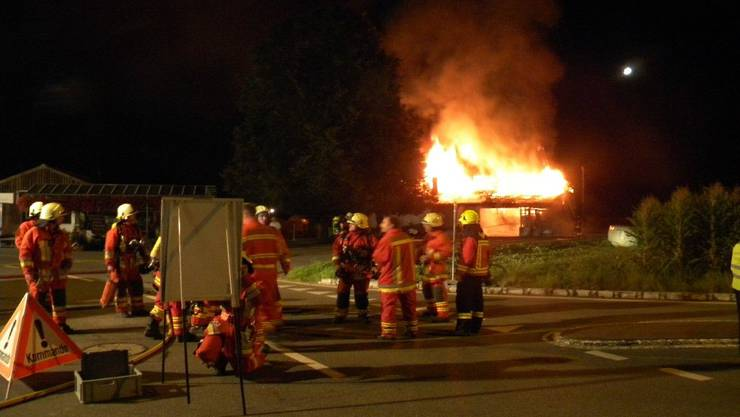 Im Sommer 2009 brannte das Schützenhaus in Rupperswil.