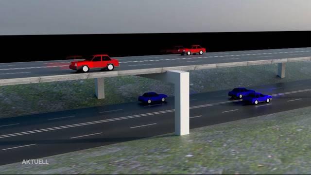 Gibt es eine doppelstöckige Autobahn im Limmattal?