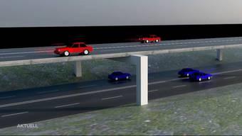Fast 26'000 Stunden im Jahr steht der Verkehr still. Deshalb prüft das ASTRA den Bau einer doppelstöckigen Autobahn im Limmattal.