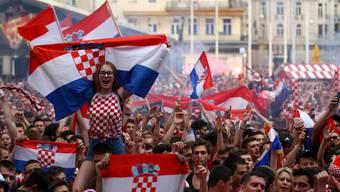 Kleines Land ganz gross: In Zagreb feiern die   kroatischen Fans ihre Nationalmannschaft.