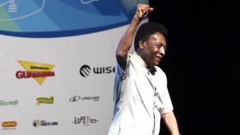 Pelé, hier an einem Anlass in Rio de Janeiro vor wenigen Tagen, sagte eine Ehrung in London ab