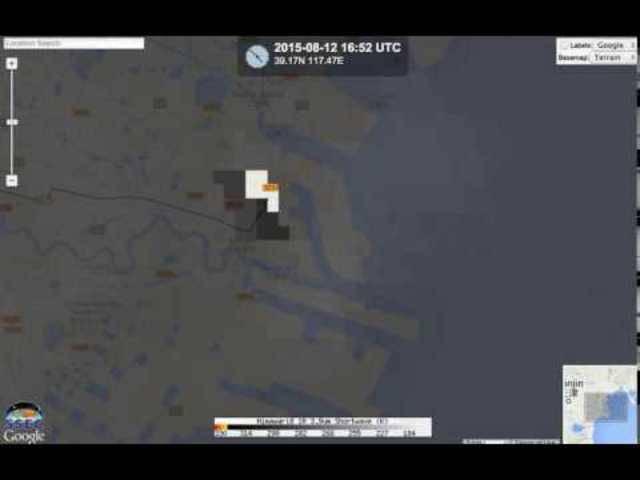 Satellitenaufnahmen der massiven Explosion in Chinas Grossstadt Tianjin