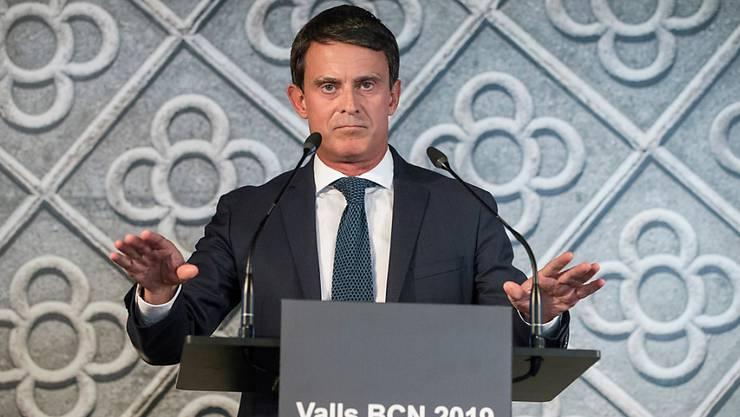 Manuel Valls will im nächsten Mai bei den Kommunalwahlen in Barcelona antreten