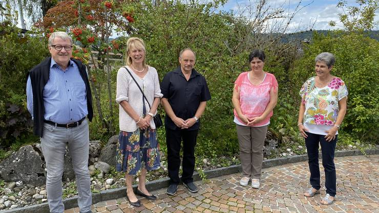 Die neu gewählte Kirchenpflege Leerau (von links): Adrian Lüscher (Finanzen), Béatrice Meili (Präsidium, Personal), Markus Schneiter (Liegenschaften), Myrta Steiner (Pädagogisches Handeln), Irene Aeschbach (Erwachsenenbildung)
