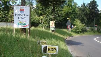 Kommunalwahlen 2013: Wahlplakate an der Alberich-Zwyssig-Strasse. (Archiv)