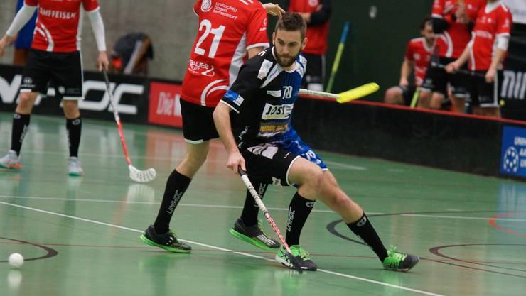 UAU-Captain Björn Strebel auf dem Spielfeld im Einsatz.Ruedi Burkart