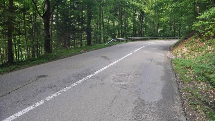 Hier verunfallte der Velofahrer: Auf der bei Töff- und Velofahrern beliebten Gempenstrasse zwischen Gempen und Dornach.