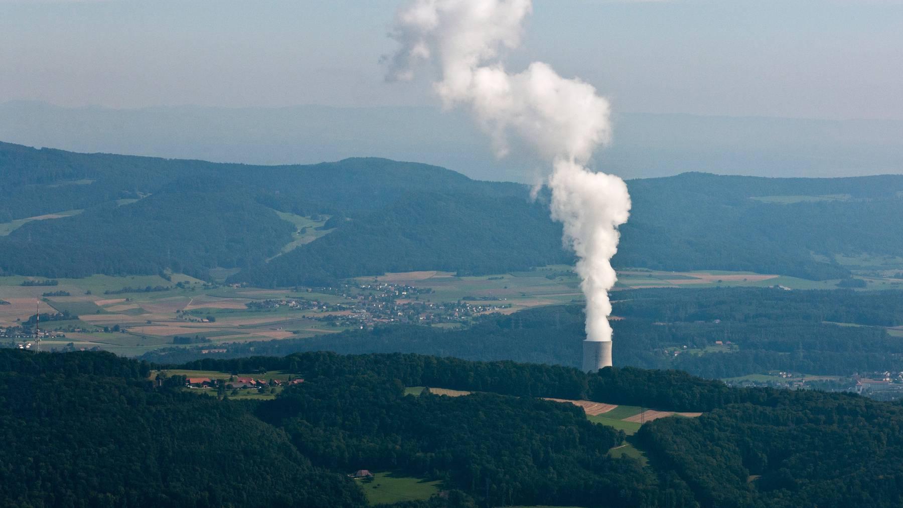 Die Strompruduktion im AKW Gösgen wurde am Montag für 6,5 Stunden unterbrochen. Nun läuft sie wieder. (Symbolbild)