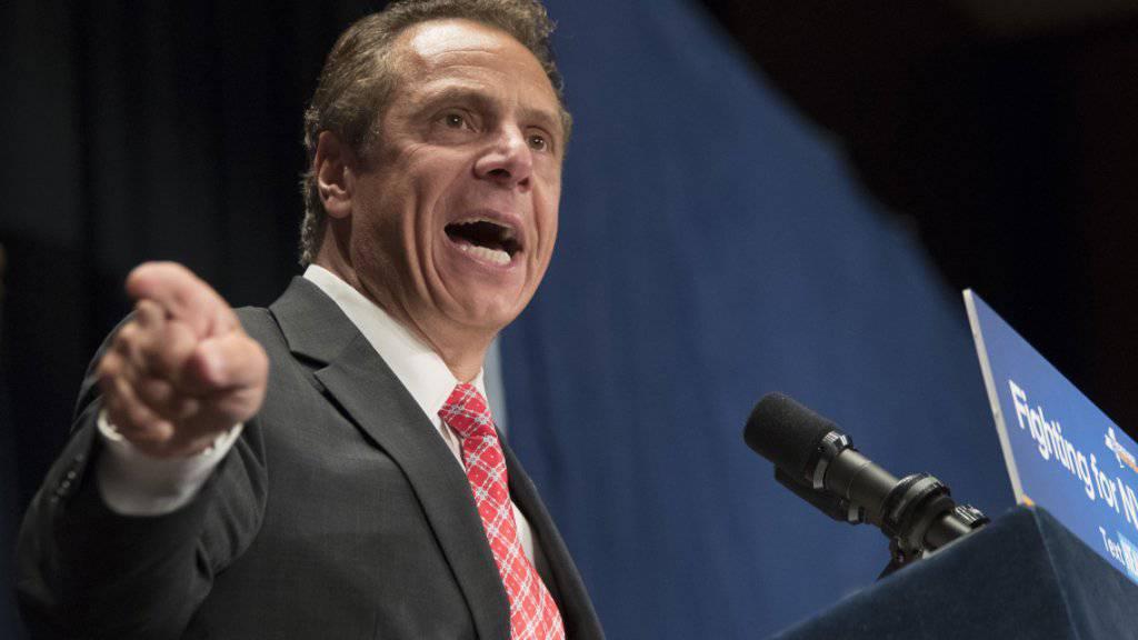 «Die neuste Welle von Massenerschiessungen ist erschreckend»: New Yorks Gouverneur Andrew Cuomo. (Archivbild)