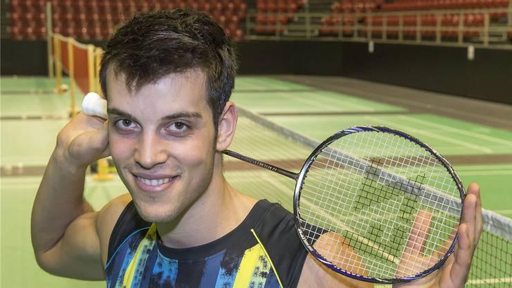 Lässt ebenfalls gerne die Muskeln spielen: Yoann Freysinger am Swiss Open. Georgios Kefalas/Keystone