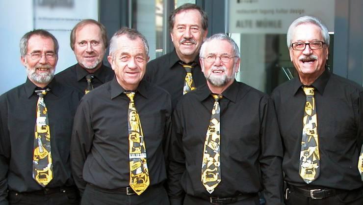 Die Longvalley Jazzband (hier mit Hansueli Straub) ruft mit «Let's fäzz» in die Zähnteschür nach Bettlach. SOL