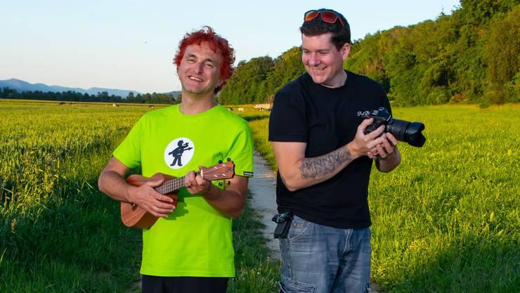 Der Kappeler Christian Schenker und der Kestenholzer Paul Bühler spannten für den Song «Ferie i dr Schwiiz» zusammen.