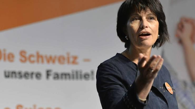 Doris Leuthard wird im Wahlkampf quasi zur Klima-Botschafterin ihrer Partei, der CVP.