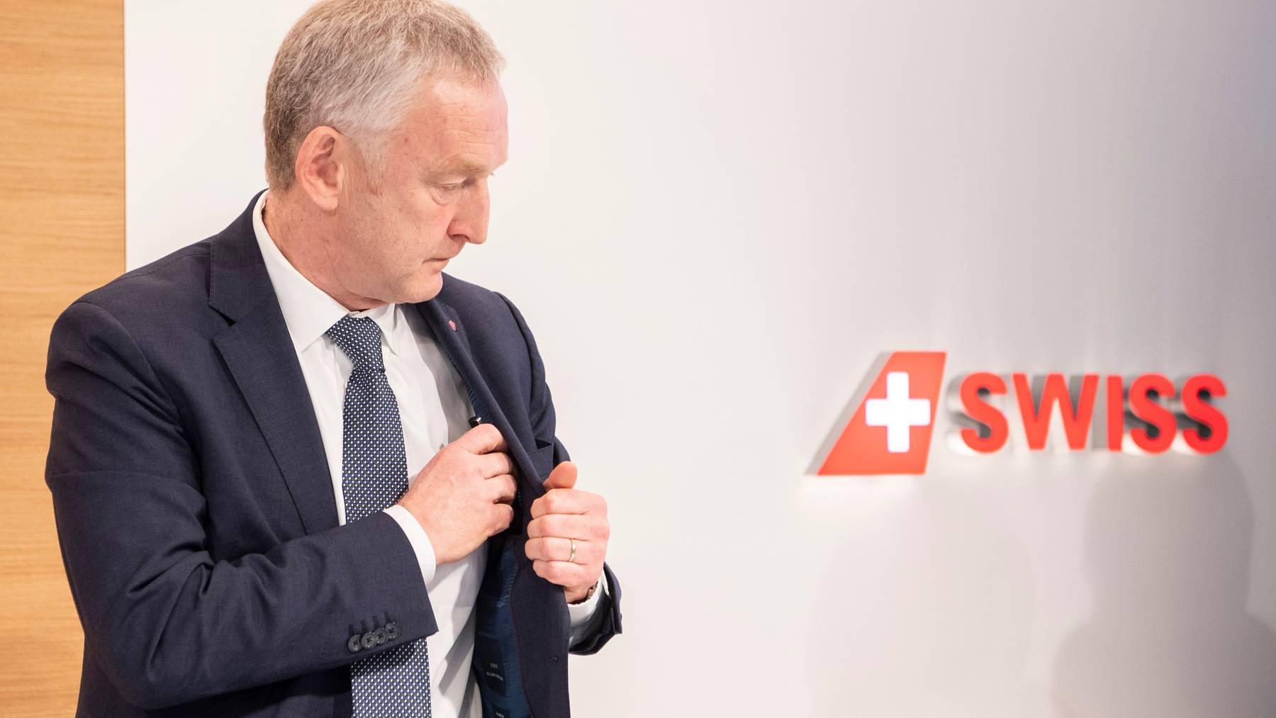 Sieht im Quarantäneregime keinen Vorteil: Der abtretende CEO der Swiss, Thomas Klühr. (Archivbild)