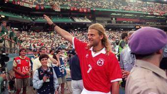 Alain Sutter mit seiner legendären Mähne.