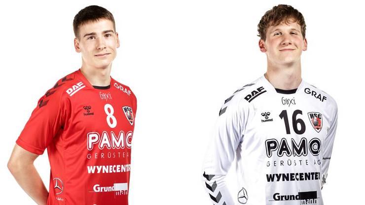 Die HSC-Spieler Manuel Zehnder und Leonard Grazioli sind für den ersten Nati-Lehrgang der Saison aufgeboten.