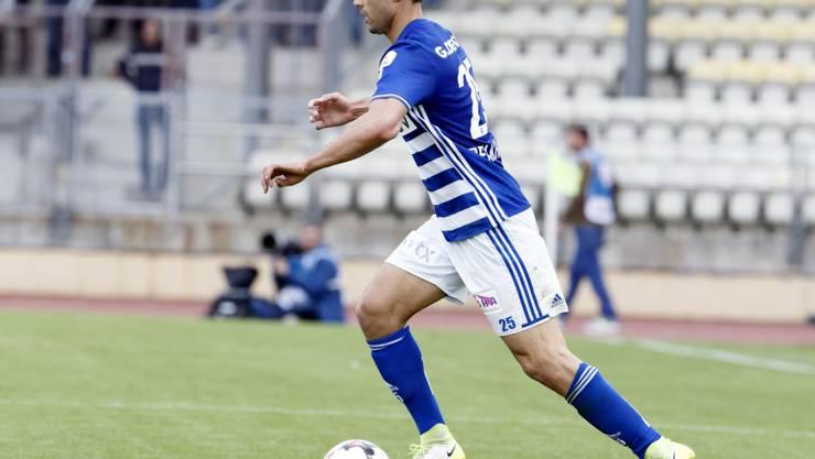 Dribbelt künftig im Dress des FC St. Gallen: Nassim Ben Khalifa (hier im Trikot von Lausanne-Sport)