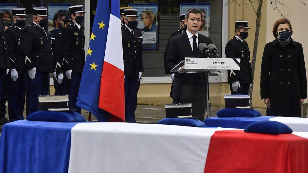 Frankreich nimmt mit Zeremonie Abschied von drei getöteten Polizisten