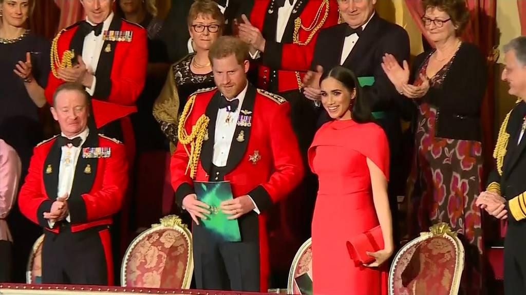 Harry und Meghan wohl zum letzten Mal als Royals unterwegs