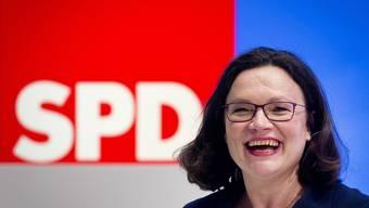 Nahles erste Frau an SPD-Spitze (22.04.2018)