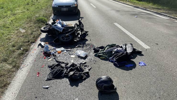 Der Unfall ereignete sich am Dienstag in Holziken.
