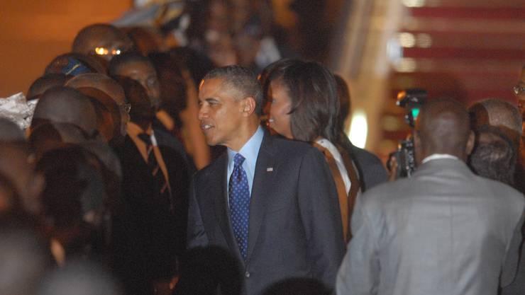 Barack Obama trifft in Senegal ein