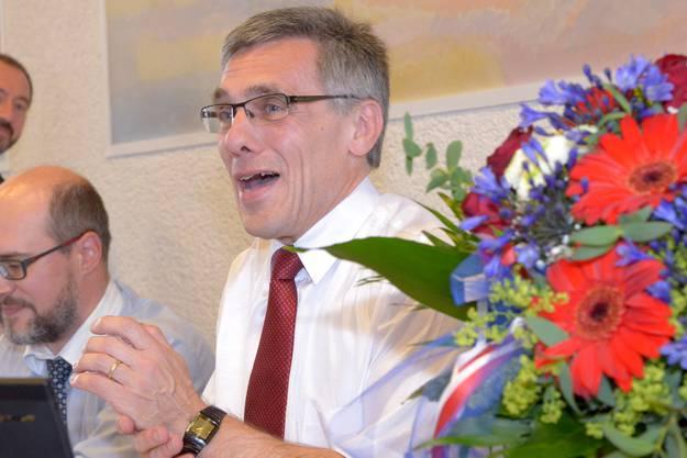 Der abtretende Landratspräsident Franz Meyer wird verabschiedet.