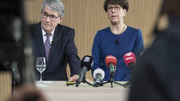 Trennung: Urs Schwaller und Susanne Ruoff.