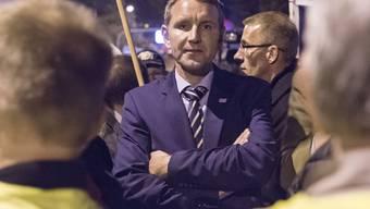 Björn Höcke bei einer Kundgebung in Erfurt im Oktober 2015. (Archiv)