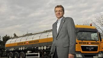 Das Transportunternehmen von Hans-Jörg Bertschi aus Dürrenäsch muss eine Umsatzeinbusse verkraften. (Archiv)