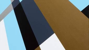 Eine Frage der Wahrnehmung: Die Form ist klar, die Wirkung verwirrlich. «Die neue Weite» von Rita Ernst. Acryl auf Leinwand, 80x60 Zentimeter von 2017/18.