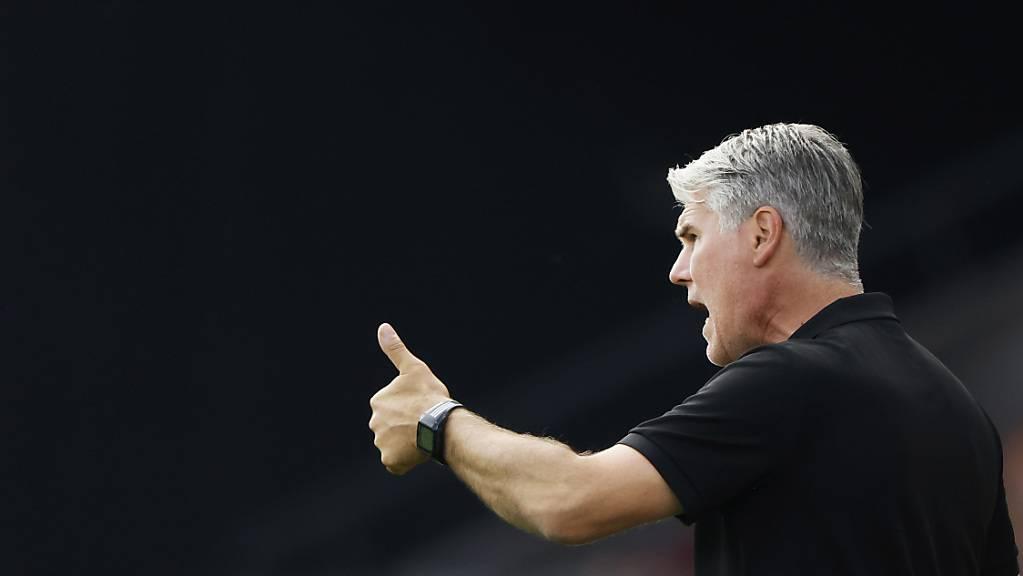 Der Daumen dürfte für Sions Trainer Marco Walker bald nach unten zeigen
