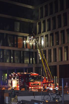 Grossbrand auf dem Campus-Neubau Brugg-Windisch