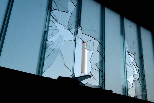 Der angerichtete Schaden von Innen.