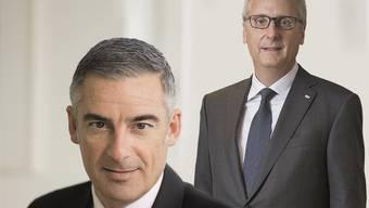 Stefan Loacker (vorne) und Urs Rüegsegger gelten als aussichtsreichste Kandidaten für das Präsidium.