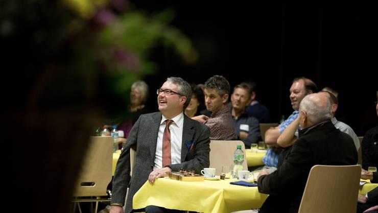 Regierungsrat Remo Ankli genoss die spannende Unterhaltung der Messner Vereine.