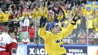 Filip Forsberg jubelt über einen seiner Treffer