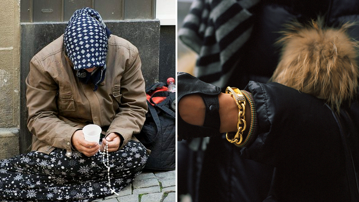Arm und reich in der Schweiz. (Symbolbilder)