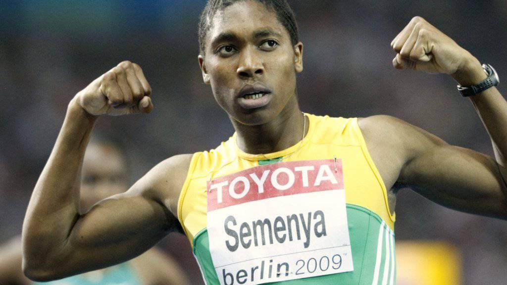 Zu männlich: Caster Semenya muss in Zukunft ihren Testosteronspiegel reduzieren, wenn sie weiterhin bei den Frauen über 800 und 1500 m laufen will