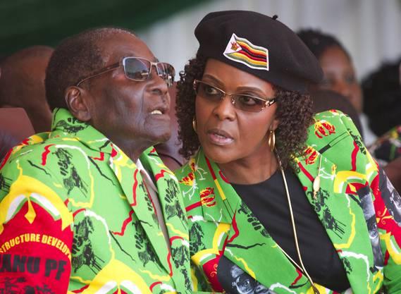 Robert Mugabe und Ehefrau Grace Mugabe