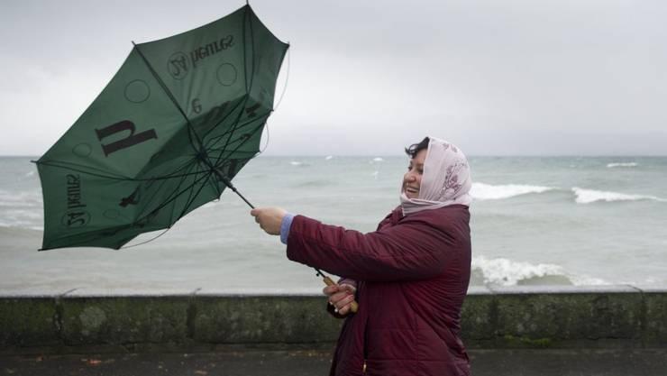 Die Schweiz hat einen windigen bis stürmischen Sonntagnachmittag erlebt. (Archivbild)